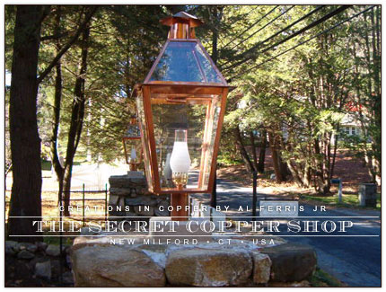 CUSTOM COPPER LANTERNS AND LIGHTING | COPPER LIGHTS | Post Lamps ...